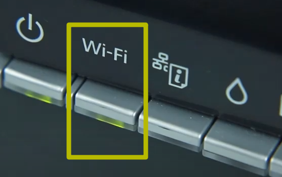 кнопка wi-fi на принтере