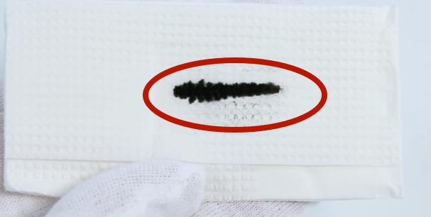 черный отпечаток от печатающей головки