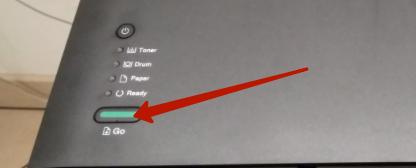 кнопка GO на принтере brother