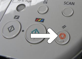 кнопка отмены на принтере