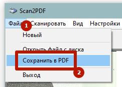 сохранить в pdf
